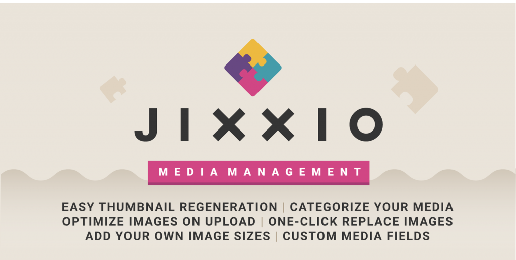 Jixxio list of features. WordPress plugin image category